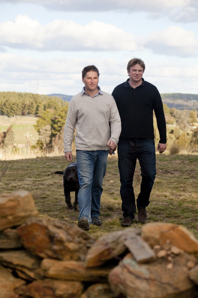 Nick O'Leary with friend and fellow winemaker Alex McKay
